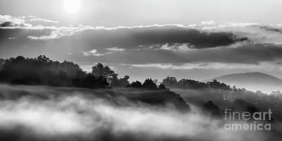 Photograph - Sunrise And Fog by Thomas R Fletcher