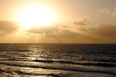Photograph - Sunset At Jaffa Beach 1 by Isam Awad