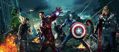 The Avengers 2012 Art Print