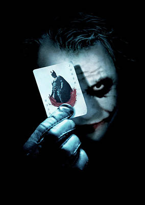 The Joker Wall Art - Digital Art - The Dark Knight 2008  by Geek N Rock
