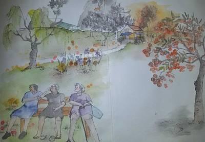 Painting - Trees Trees Trees Again Album by Debbi Saccomanno Chan