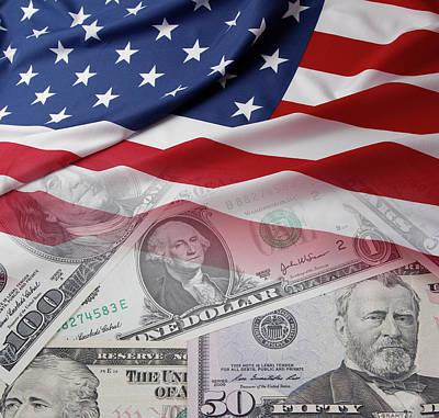 Financial Digital Art - Usa Finance by Les Cunliffe