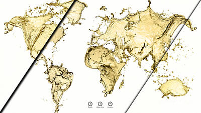 World Map Collection Art Print by Marvin Blaine