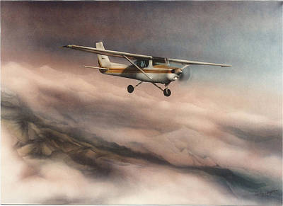 150 Cessna And Cascades Art Print by Harley Harp