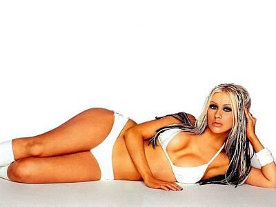 Christina Digital Art - 1509 Celebrity Christina Aguilera  by F S