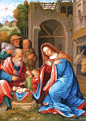 Painting - 1518 Nativity by Munir Alawi