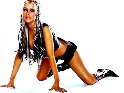 Christina Digital Art - 1526 Celebrity Christina Aguilera  by F S
