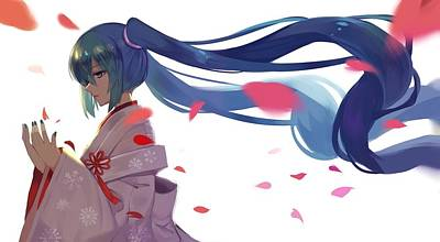 Curve Digital Art - Vocaloid by Super Lovely