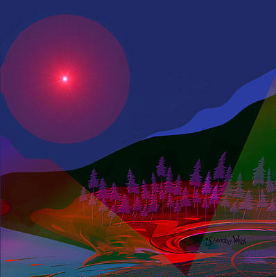 Digital Art - 1539 - Mystery Land by Irmgard Schoendorf Welch