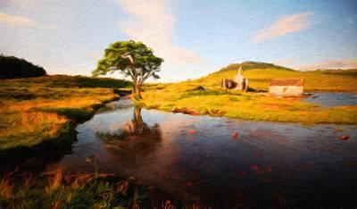 Field Painting - Nature Art Landscape Canvas Art Paintings Oil by Margaret J Rocha