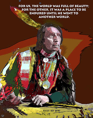 Redskins Mixed Media - Motivational Quotes by Charles Shoup
