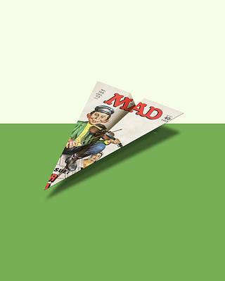 156 Mad Paper Airplane Art Print