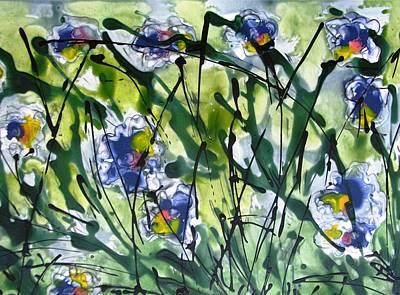 Audrey Hepburn - Heavenly Flowers by Baljit Chadha