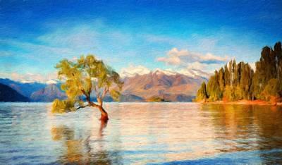Autumn Painting - Landscape Nature Art by Margaret J Rocha