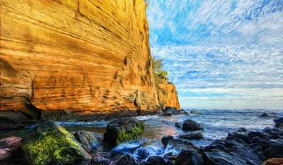 Sun Painting - Landscape Pictures Nature by Margaret J Rocha