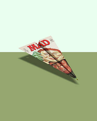 157 Mad Paper Airplane Art Print