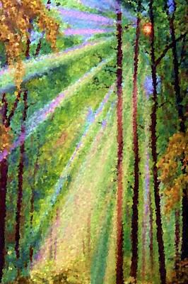 Sunrise Painting - Nature Landscape Paintings by Edna Wallen