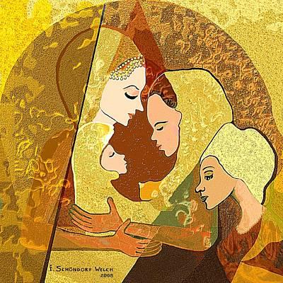 157 - Three Women And A Child Art Print