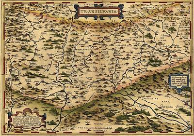 1570 Map Of Transylvania, Now Art Print by Everett