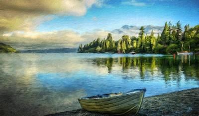 Idyllic Painting - Landscape On Nature by Margaret J Rocha