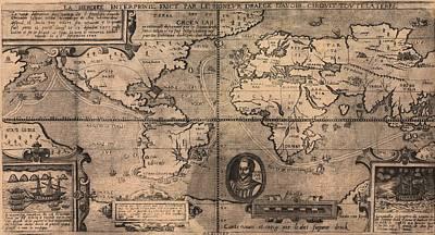 1581 Map By Nicola Van Sype, Showing Art Print by Everett