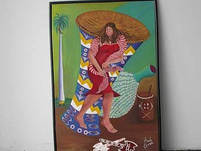 Chango Painting - Moforibale A Chango by Carmelo  Prado