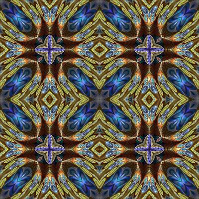 Mosaic Mixed Media - Kaleidoscopic Ornament And Background Art Wallpaper Tiles by Viktor Lebeda
