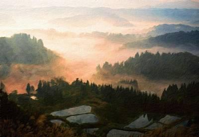 Ocean Painting - Nature Original Landscape Painting by Margaret J Rocha