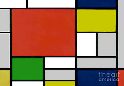 Painting - 15f Abstract Painting Geometric Digital by Ricardos Creations
