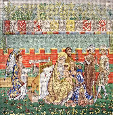15th Century Tapestry Of The Adoration Art Print by Vintage Design Pics