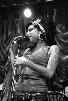 Photograph - Amy Winehouse Photo 21 by Jenny Potter