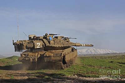 Battle Tank Photograph - An Israel Defense Force Merkava Mark Iv by Ofer Zidon