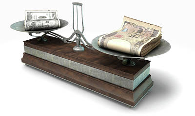 Aged Wood Digital Art - Balance Scale Comparison by Allan Swart
