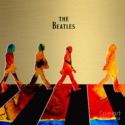 Beatles Collection Art Print by Marvin Blaine