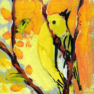 Birds Painting Rights Managed Images - 16 Birds No 1 Royalty-Free Image by Jennifer Lommers