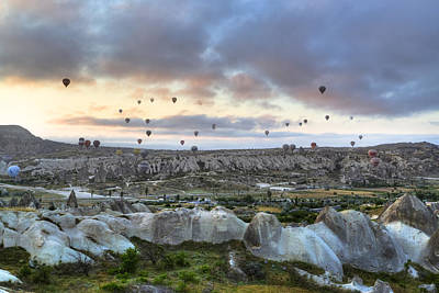 Hot Air Balloon Photograph - Cappadocia - Turkey by Joana Kruse