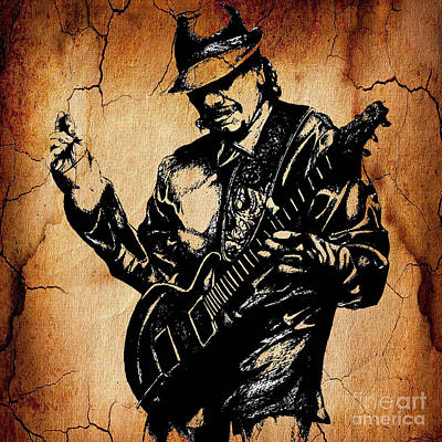 Carlos Santana Collection Art Print