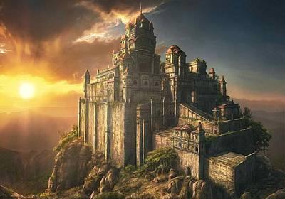 Landmark Digital Art - Castle by Super Lovely