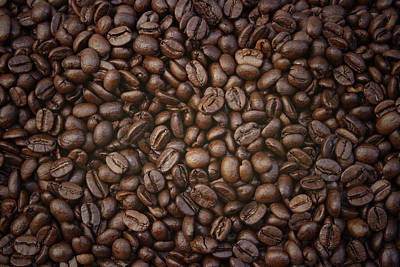 Keith Richards - Coffee beans by Les Cunliffe