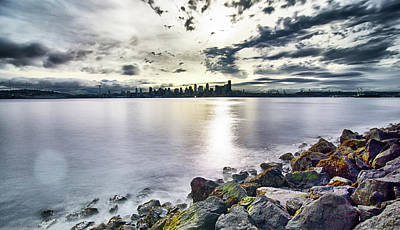 Photograph - Early Morning Sunrise In Seattle Washington by Alex Grichenko