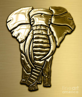 African Mixed Media - Elephant Collection by Marvin Blaine