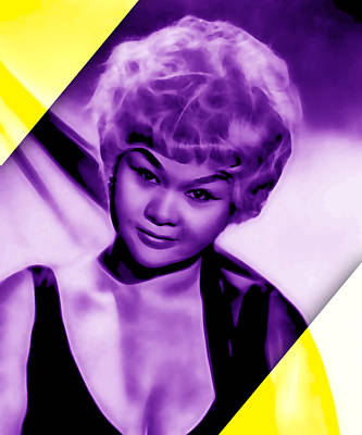At Poster Mixed Media - Etta James Collection by Marvin Blaine