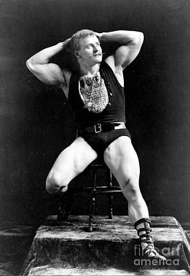 Nude Men Wrestling Photograph - Eugen Sandow, Father Of Modern by Science Source