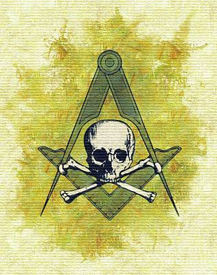 Trowels Painting - Freemason, Masonic, Symbols by Pierre Blanchard