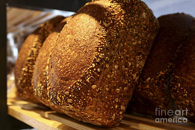 Bread Making Photograph - Freshly Baked Loaves Of Bread At A Bakery by Oren Shalev