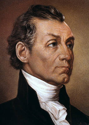 James Monroe (1758-1831) Art Print by Granger