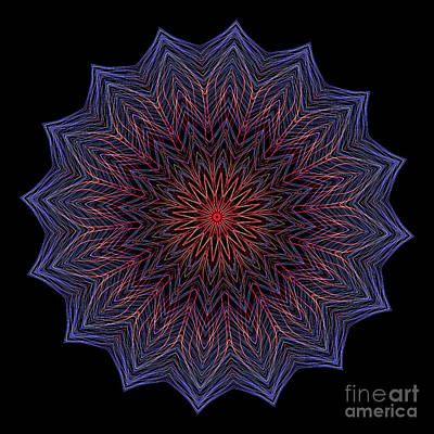 Digital Art - Kaleidoscope Image Created From Light Trails by Amy Cicconi