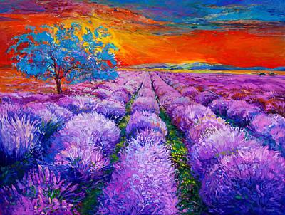 Lavender Fields  By Ivailo Nikolov Art Print by Boyan Dimitrov