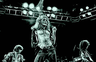 Robert Plant Mixed Media - Led Zeppelin Collection by Marvin Blaine