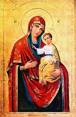 Madonna And Child Digital Art - Madonna And Child Religious Art by Christian Art